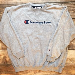 Champion   Mens Grey Sweatshirt Size 3x Spell Out